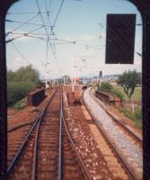 Dumbarton East viewed from westbound train.<br><br>[Ewan Crawford&nbsp;//1987]