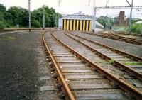 Hyndland Depot looking to the buffers. Access by kind permission of British Rail.<br><br>[Ewan Crawford&nbsp;//1987]