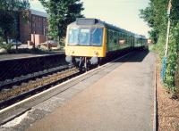 DMU entering Crossmyloof from the south.<br><br>[Ewan Crawford&nbsp;//1987]