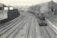 2.6.2T 67661 leaving Springburn for Jordanhill.<br><br>[G H Robin collection by courtesy of the Mitchell Library, Glasgow&nbsp;05/08/1959]