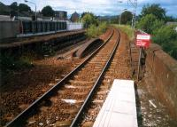 Alexandria showing the platform unused since reduction to a single track.<br><br>[Ewan Crawford&nbsp;//1987]