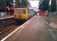 Westbound 311094 at Scotstounhill.<br><br>[Ewan Crawford&nbsp;//1987]