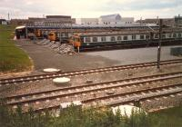 30Xs lined up at Yoker Depot.<br><br>[Ewan Crawford&nbsp;//1987]