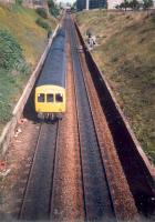 DMU struggles up the Cowlairs incline.<br><br>[Ewan Crawford&nbsp;//1987]