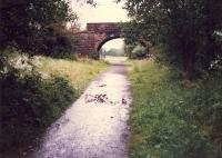 The single platform of Lennoxtown (New) was on the other side of this bridge on the left.<br><br>[Ewan Crawford&nbsp;//1987]