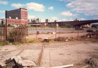 Only track left at General Terminus Quay. The area has been redeveloped and even the Mirror building across the River Clyde has gone.<br><br>[Ewan Crawford&nbsp;//1987]