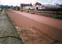This was the yard at General Terminus shortly after the track was lifted. The area was being landscaped to become a carpark for the Glasgow Garden Festival.<br><br>[Ewan Crawford&nbsp;//1987]