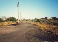 College Goods yard. How are the mighty fallen. View looks east. Airdrie line to left, CGU to right.<br><br>[Ewan Crawford&nbsp;//1987]