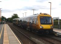 A train from Leamington (I love writing that) to Nuneaton calls at Arena station on 30th May 2019.<br><br>[Ken Strachan 30/05/2019]