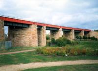 This mammoth viaduct carried the line from Whifflet to Airdrie CR. By the time of the photograph it only carried the line to BSC Imperial works. Today it is a cyclepath.<br><br>[Ewan Crawford&nbsp;//1987]