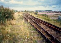 To the east of Whifflet Upper was Calder Yard which served the BSC Calder works (closed, right). The line ran east to BSC Imperial works.<br><br>[Ewan Crawford&nbsp;//1987]