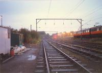 The sidings on the south side of Airdrie station.<br><br>[Ewan Crawford&nbsp;//1987]