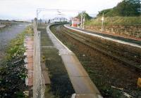 Craigendoran looking west. Line singled 3 years previously. Bay platform for pier was to left.<br><br>[Ewan Crawford&nbsp;//1987]