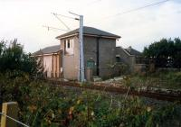 Craigendoran Junction signalbox looking west.<br><br>[Ewan Crawford&nbsp;//1987]