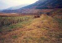 Looking east from the bufferstop at Crianlarich Lower.<br><br>[Ewan Crawford&nbsp;//1987]