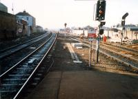 Haymarket looking west towards Glasgow. The coal depot on the right has gone.<br><br>[Ewan Crawford&nbsp;//1987]
