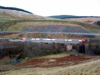 Northbound train passing over Harthope Viaduct.<br><br>[Ewan Crawford&nbsp;//2003]