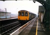 DMU at Prestonpans heading east.<br><br>[Ewan Crawford&nbsp;//1987]