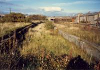 This rambling station ... Ardrossan North, the through platforms. The bay platforms were to the right. There were sufficient glazed canopies (6) to cover Buchanan Streets platforms.<br><br>[Ewan Crawford //1987]