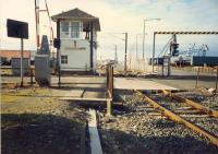 Ardrossan Harbour box looking to Ardrossan Harbour station and Winton Pier.<br><br>[Ewan Crawford&nbsp;//1987]