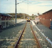 Ardrossan Town station, hugely cut-back. Note the semphore on the right.<br><br>[Ewan Crawford&nbsp;//1987]