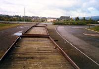 Flatbed wagons at Glengarnock Steelworks once used to deliver large ingots for rolling.<br><br>[Ewan Crawford&nbsp;//1987]