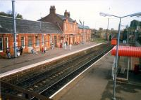 Looking to Glasgow at Johnstone station.<br><br>[Ewan Crawford&nbsp;//1987]