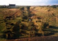 Line approaching Glenburn on the Prestwick-Mossblown Jnct section.<br><br>[Ewan Crawford&nbsp;//1987]