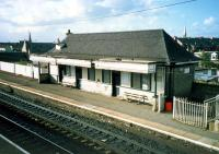 Fine Caledonian building at Bellshill station.<br><br>[Ewan Crawford&nbsp;//1987]