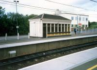 The small building on the eastbound platform at Uddingston.<br><br>[Ewan Crawford&nbsp;//1987]