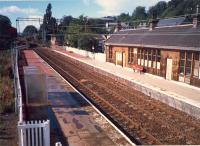 Bowling looking west. Both station building and box have been swept away.<br><br>[Ewan Crawford //1987]