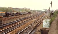 Looking north at the sidings north of Larbert.<br><br>[Ewan Crawford&nbsp;//1988]