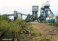Polmaise Colliery from the east. Access by kind permission of NCB.<br><br>[Ewan Crawford&nbsp;//1988]