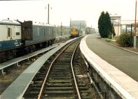 Motorail at Stirling. View looks south.<br><br>[Ewan Crawford&nbsp;//1988]