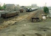 Stirling goods yard looking south. The goods yard has been lifted.<br><br>[Ewan Crawford&nbsp;//1988]
