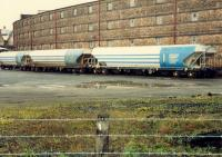 Train in Cambus DCL seen from the closed Cambus station.<br><br>[Ewan Crawford&nbsp;//1988]