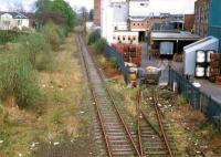 Alloa Brewery siding looking east in 1988. The brewery has since gone and this is the intended site of the new Alloa station.<br><br>[Ewan Crawford&nbsp;//1988]
