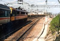 Glasgow-bound train leaves Motherwell.<br><br>[Ewan Crawford&nbsp;//1988]