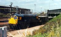 26 011 shunts ballast at Lesmahagow Junction, Motherwell.<br><br>[Ewan Crawford&nbsp;//1988]