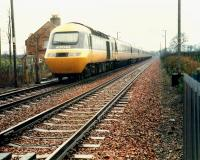 Diverted 43 042 has crossed Cove level crossing.<br><br>[Ewan Crawford&nbsp;//1988]
