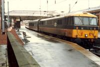 InterCity train at Ayr. Some early morning  InterCity trains ran out to Ayr before heading south.<br><br>[Ewan Crawford&nbsp;//1988]
