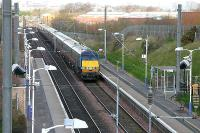 Musselburgh 2006 - a GNER London bound express passing through the station.<br><br>[John Furnevel&nbsp;/04/2006]