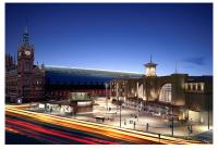 The new King's Cross Square will be a new public space opening up the crowded area in front of the station for the first time in decades. [See news item]<br><br>[Network Rail&nbsp;/01/2012]