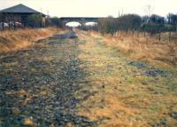 Dalry platforms at Crosshouse looking to Kilmarnock. The Irvine platforms were to the right and goods yard to the left.<br><br>[Ewan Crawford&nbsp;//1988]