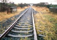 Crosshouse Junction looking to Kilmarnock. Directly behind the camera was a buffer stop. By this date the line was unfenced.<br><br>[Ewan Crawford&nbsp;//1988]