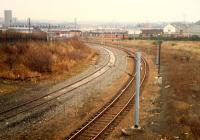 Rutherglen West Junction looking at the west to north curve.<br><br>[Ewan Crawford&nbsp;//1988]