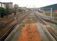 Rutherglen West Junction looking to Glasgow. The closed mainline station is in the foreground.<br><br>[Ewan Crawford&nbsp;//1988]