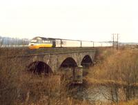 Diverted westbound 125 crossing the Clydebridge Viaduct.<br><br>[Ewan Crawford&nbsp;//1988]