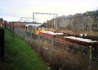 26 reversing into Partickhill Goods with a train associated with the Yoker resignalling scheme.<br><br>[Ewan Crawford&nbsp;//1987]