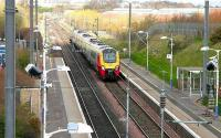 Southbound Virgin CrossCountry service passing Musselburgh in April 2006.<br><br>[John Furnevel&nbsp;/04/2006]